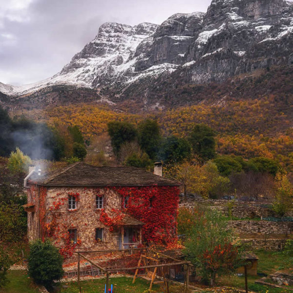Autumn colors in Papigo, Astra Restaurant, Zagorochoria